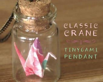 Classic Crane Origami Pendant