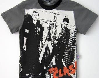 The Clash  First Album, The Cramps,The misfits, 3 kids Tee Shirts Sizes 2 to 12 years old