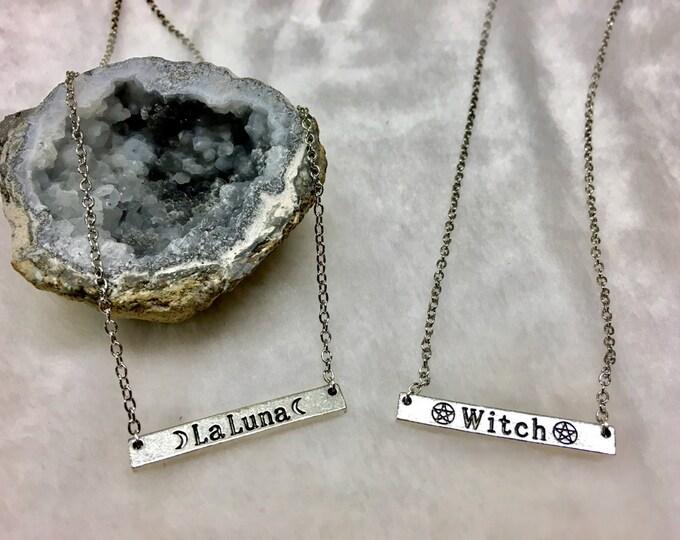 La Luna & Witch Bar Necklaces
