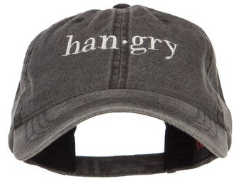 Hangry Embroidered Washed Cap