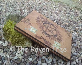 Handcrafted Wooden Book of Shadows - Journal - A4 - Pyrographed - Any Design