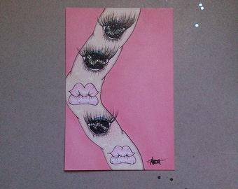 "Original 4x6"" Drawing"