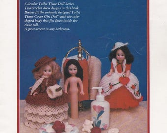January and February, Td Creations  Crochet Toilet Tissue Cover Girls Doll Clothes Pattern Booklet Td-863