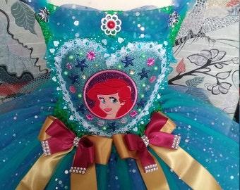 Princess Tutu with My Little Mermaid applique Ariel