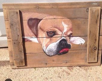 Pet portrait, dog painting, pet painting, animal painting, custom pet painting portrait