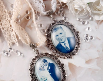 Custom Wedding Bouquet Photo charm, Bridal Bouquet photo charm, Memorial bouquet charm, Bouquet pendant charm, Bouquet Brooch, Memory Charm.