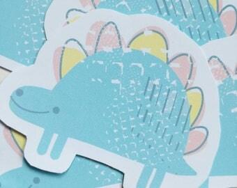 Happy Dino Matte Sticker