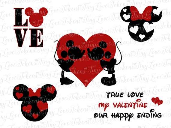 Disney Valentine SVG Design For Silhouette Or Other Craft Cutters  (.svg/.dxf/.eps/.pdf)