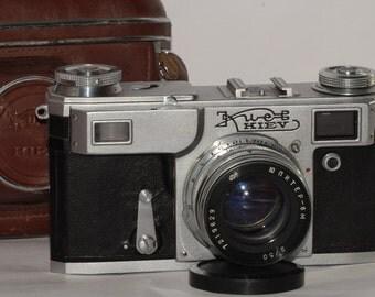Kiev-4A. Vintage. Rangefinder. Camera. Lens Jupiter-8M