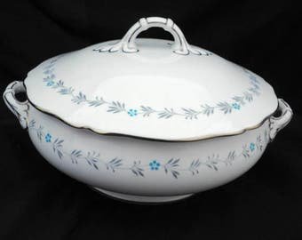 Spode LYRIC #Y7690 covered vegetable bowl with lid art deco Copeland