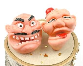 Vintage Plastic Finger Toys Set - New Year's Gag Toys - Vintage Party Favor Toys - Vintage Gag Toys