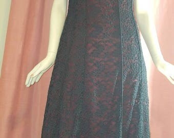 Gothic lace dress,boho black burgundy lace dress ,Gothic prom dress ,(3)