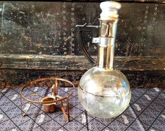 Vintage Carafe with Chafing Warmer
