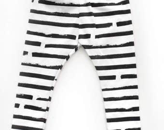 Toddler/infant organic cotton leggings, Sharpie stripe