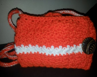 pumpkin orange small handbag