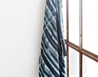 Embroidered Indigo Throw No. 2