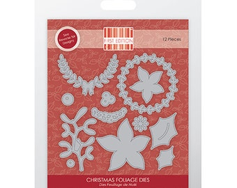 First Edition Christmas Foliage Die 12 Piece