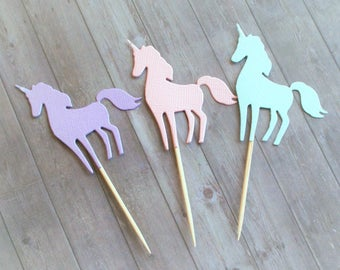 Cupcake Toppers, Unicorn Cupcake Toppers, Unicorn Decorations, Unicorn Birthday, Unicorn Party Decor, Party Decorations