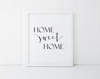 Home Sweet Home Printable | Digital Download | Instant Printable JPEG | Digital File