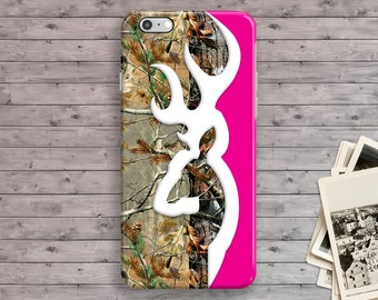 iPhone 7 Case, Deer Head iPhone 7 Plus Case, Pink Camo iPhone 6S case, iPhone 6 Plus, iPhone 6S Plus, 4 4S 5 5S 5C SE Hunter Country Tough