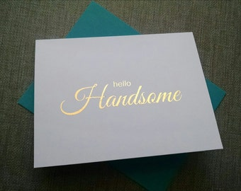 Anniversary Card for Boyfriend - Birthday Card - Card for Him - Gold Foil Print - Gold Foil Card - First Anniversary Card
