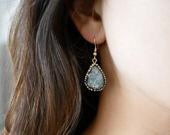 Druzy Dangle Earrings