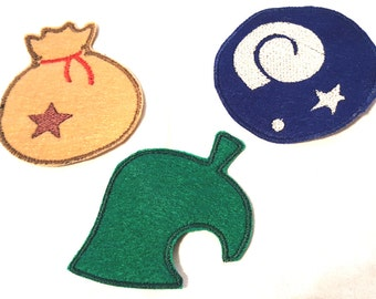 Animal Crossing - Nintendo - Patches - Magnets - Leaf - Bell Bag - Fossil