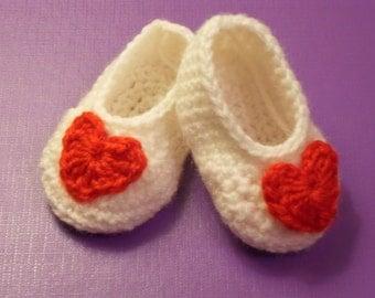 Valentine's Day Crochet Baby Booties