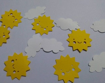 You are my sunshine confetti Sunshine and Clouds Confetti 150 pieces.