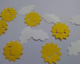 You are my sunshine confetti Sunshine and Clouds Confetti 150 pieces.