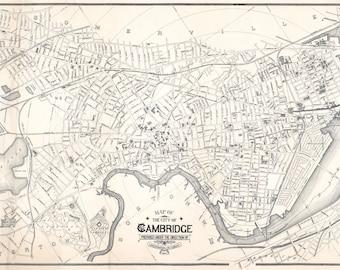 1894 Map of Cambridge Massachusetts