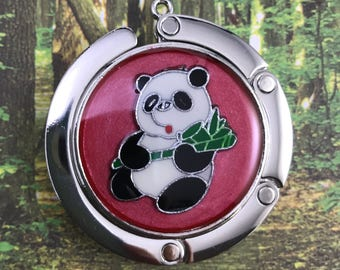 Panda with Bamboo purse holder / hanger