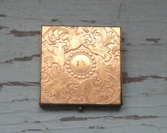 Vintage 50's Dorset Fifth Avenue Gold Mirror Powder Compact