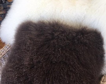 100% Mongolian lambs wool cushion cover