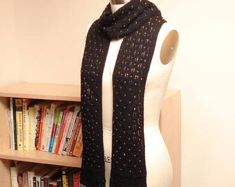 Hand Knit Beaded Lace Scarf