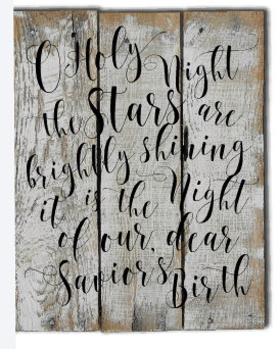O holy night christmas sign christmas decorations for O holy night decorations