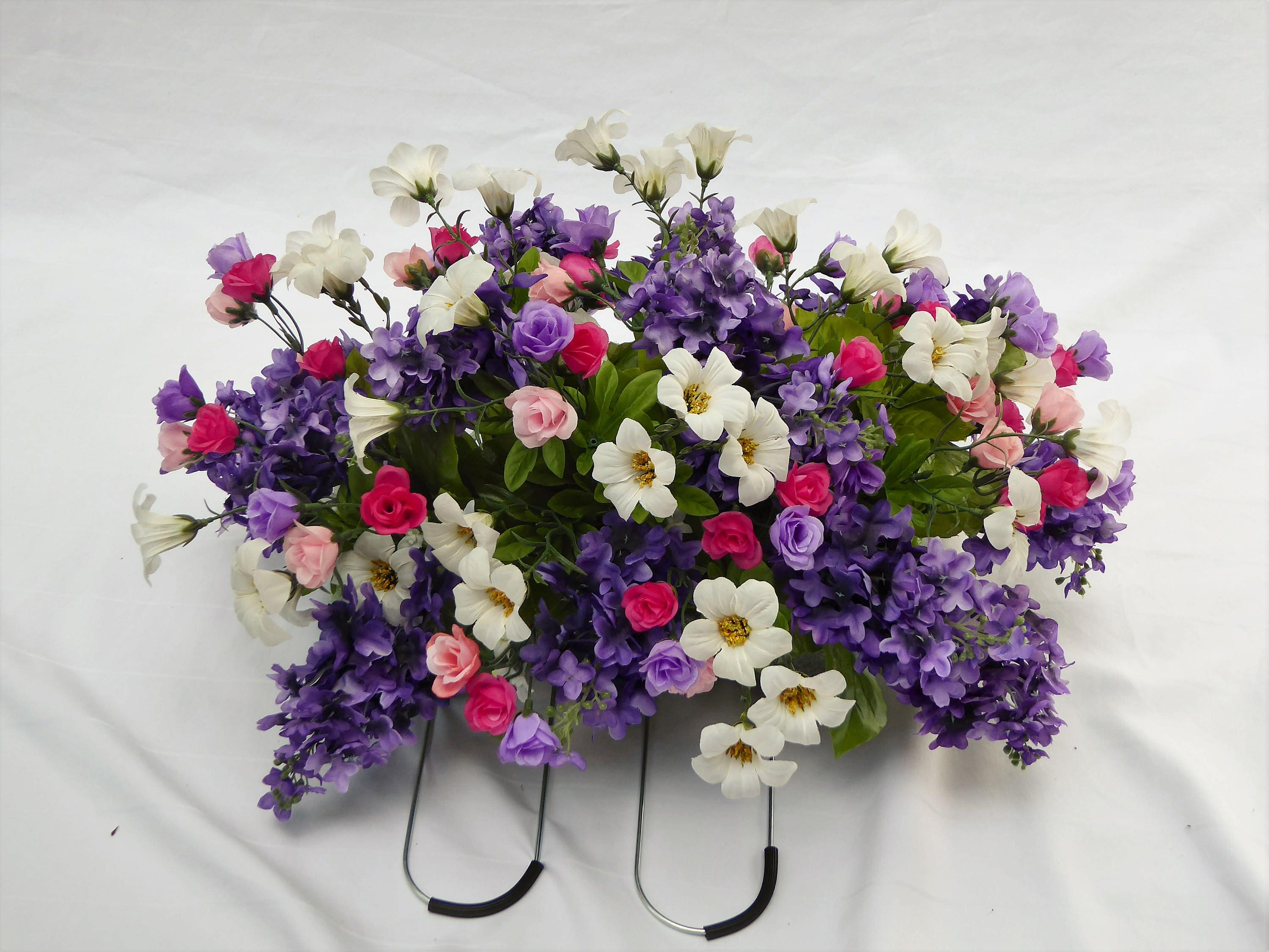 Silk Flower Tombstone Arrangement For Mother 39 S Day
