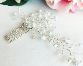 Babys Breath Inspired Bridal Hair Comb, Wedding Hair Comb, Wedding Hair Accessory, Bridal Accessory, For The Bride, Gifts For Bridesmaids