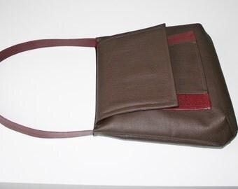 Womens brown handbag, brown bag, womens shoulder bag, casual handbag