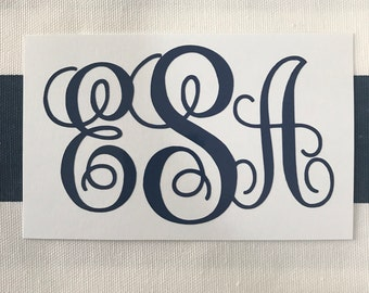 Monogram Decal - Vine Script