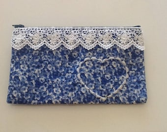 Embroidered Wallet or Travel bag
