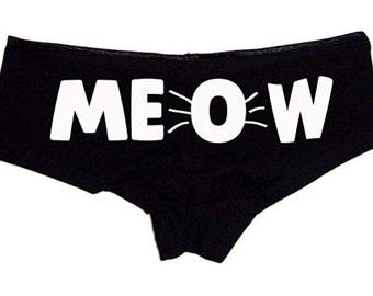 Meow Booty Shorts Women's Cute Underwear Panties