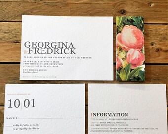 Georgette Wedding Invitation Template, Printable Wedding Stationery, Downloadable Wedding Stationery