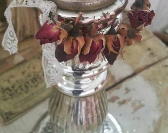BEAUTIFUL antique chandelier - candle chandelier maker silver