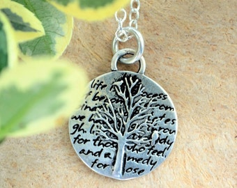 Tree of Life Necklace | Tree of Life Pendant | Silver Tree of Life Charm | Tree of Life Jewelry | Sterling Silver Tree of Life