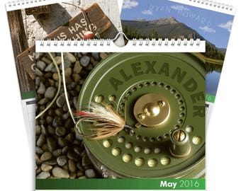 Personalised Fly Fishing Calendar - Desktop Calendar