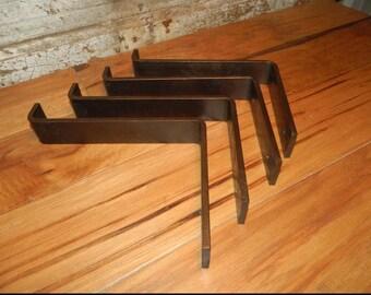 Sale! Shelf Brackets, 2PC Set, Handmade, Metal, Edged,Metal, Corbel, Lip, Metal Shelf Bracket