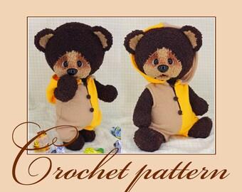 Tishka – the teddy-bear - Amigurumi Crochet Pattern PDF file by Anna Sadovskaya