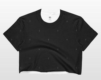 Cross Shirt | Cross Crop Top | Cross Tee Shirt | Women's Tops | Cross Top