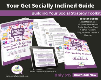 Social Media Training - Social Media Marketing - Building Your Social Media Strategy Toolkit- 66 pg training, 18 pg Workbook, and more.